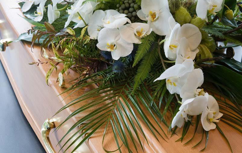 Caixão com flores o que é exumação